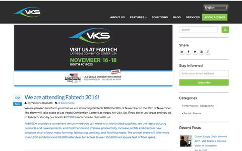 We are attending Fabtech 2016! | VkS