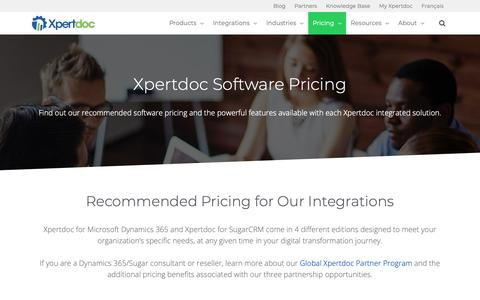 Screenshot of Pricing Page xpertdoc.com - Pricing | Xpertdoc - captured May 15, 2019