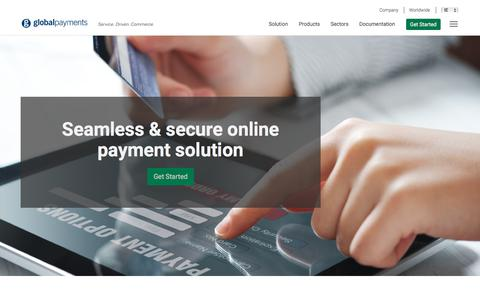 Screenshot of Products Page globalpaymentsinc.com - Secure Online Payment Gateway | Global Payments - captured Sept. 23, 2018