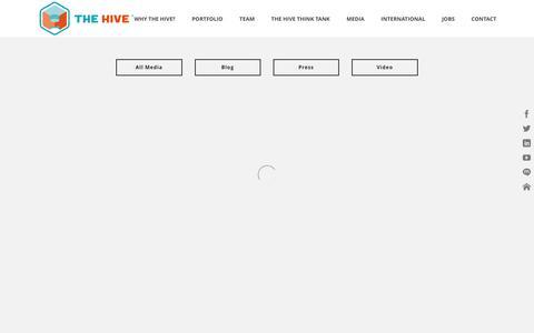 Screenshot of Press Page hivedata.com - The Hive   –  Press - captured Feb. 15, 2016