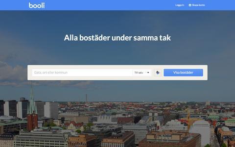 Screenshot of Home Page booli.se - Booli.se - Sveriges största oberoende bostadssajt - captured Oct. 15, 2015