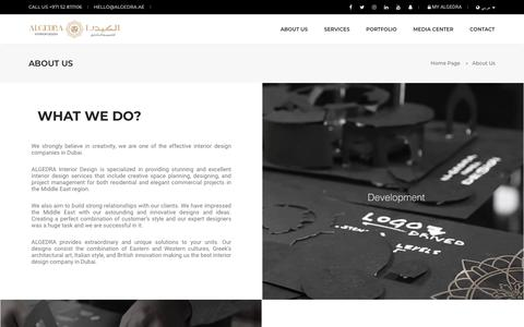 Screenshot of About Page algedra.ae - About ALGEDRA - Architecture & Interior Design Company - captured July 25, 2019