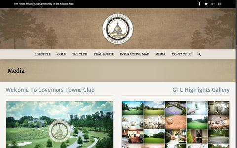 Screenshot of Press Page governorstowneclub.com - Media » Governors Towne Club - captured Sept. 3, 2017