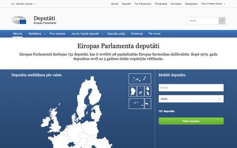 Screenshot of Maps & Directions Page europa.eu - Sākums | Deputāti | Eiropas Parlaments - captured Nov. 30, 2018