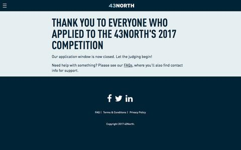 Screenshot of Login Page 43north.org - 43North – Welcome to the 43North App - captured July 7, 2017