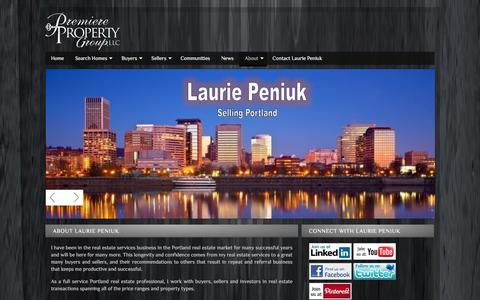 Screenshot of About Page yourportlandrealtors.com - About Laurie Peniuk and Our Real Estate Buyer and Seller Services in Aloha - captured Jan. 27, 2016