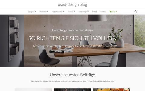 Screenshot of Blog used-design.com - used-design Blog - So richten Sie sich stilvoll ein - captured Oct. 19, 2018
