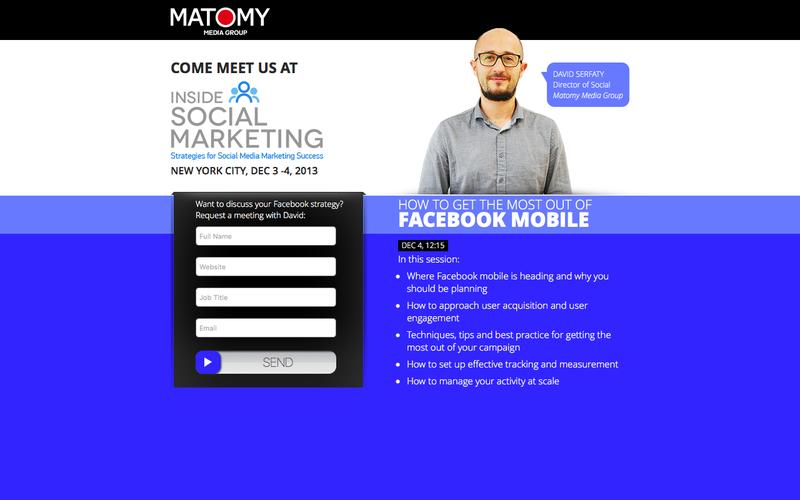 Matomy Media Group - Come meet us at Inside Social Marketing