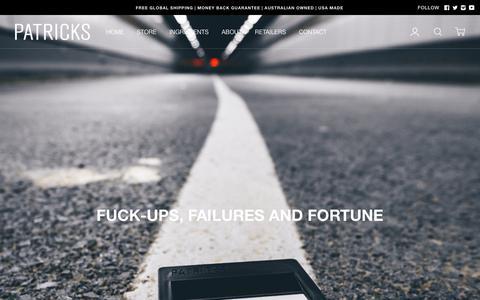 Screenshot of About Page patricks.com.au - Our Story   Patricks – Patricks AU - captured Nov. 4, 2018