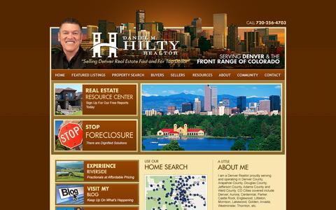 Screenshot of Home Page dmhhomes.com - Denver Short Sale   Short Sale Denver   Denver Foreclosure Listings   Denver Short Sales :: Daniel Hilty - captured Oct. 5, 2014