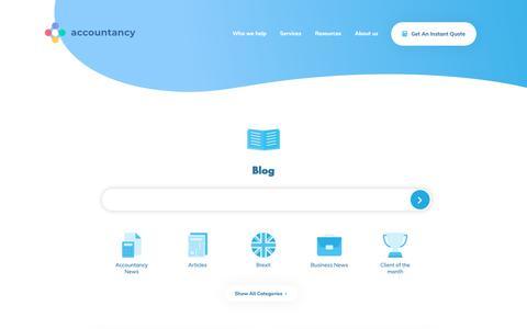 Screenshot of Blog theaccountancy.co.uk - Blog | - - captured June 24, 2019
