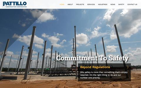 Screenshot of Home Page pattilloconstruction.com - Pattillo Construction - captured May 14, 2017
