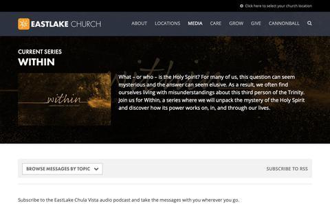Screenshot of Press Page eastlakechurch.com - Message Archive | EastLake Church - captured Nov. 4, 2018