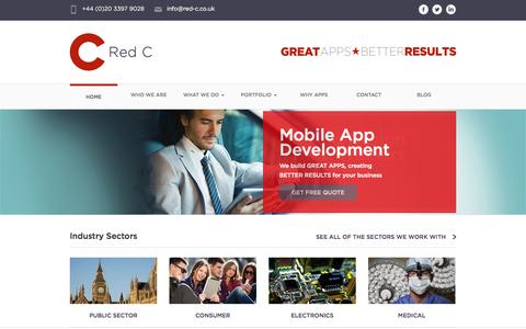 Mobile App Design and Development Company – Red C London UK