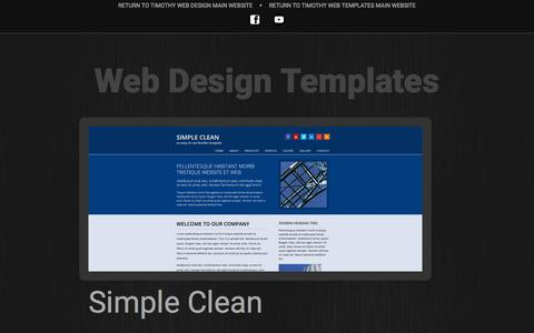 Screenshot of Home Page timothyprojects.net - Website Templates - captured Oct. 11, 2015