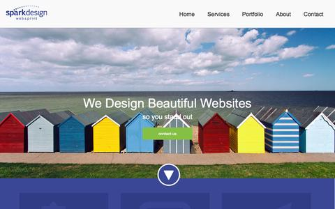Screenshot of Home Page sparkdesignco.com - Spark Design web & print | A Digital Marketing Agency - captured Jan. 26, 2015
