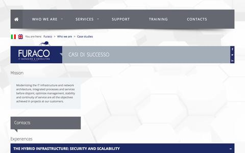 Screenshot of Case Studies Page furaco.it - Case studies | Furaco IT Managing & Consulting - Sicurezza Informatica, Networking - Milano, Bergamo - captured Nov. 25, 2016