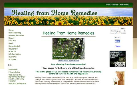 Screenshot of Home Page healing-from-home-remedies.com - Healing From Home Remedies - captured Feb. 16, 2016