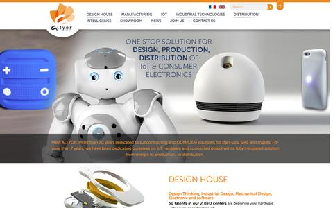 Screenshot of Home Page altyor.com - Internet of things: Design, Production, Distribution of IoT by ALTYOR - captured Dec. 22, 2015