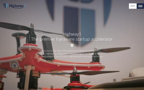 Screenshot of About Page highway1.io - About Highway1 - The premiere hardware startup accelerator - captured Dec. 10, 2015