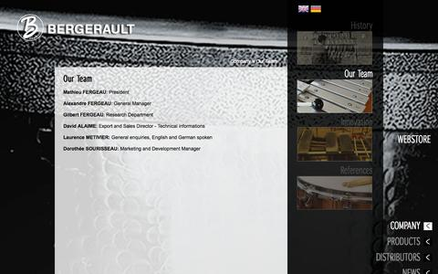 Screenshot of Team Page bergerault.com - Our Team | Bergerault Percussions Contemporaines - captured Oct. 4, 2014