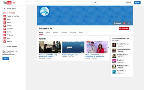Screenshot of YouTube Page youtube.com - Rucatech Ar  - YouTube - captured Oct. 26, 2014