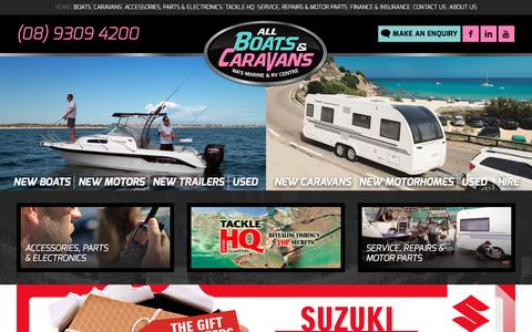 Screenshot of Home Page allboatsandcaravans.com.au - All Boats & Caravans - captured Nov. 20, 2016