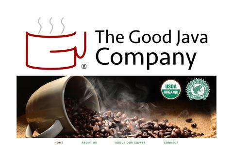 Screenshot of Home Page thegoodjava.com - The Good Java Company - captured Oct. 18, 2018