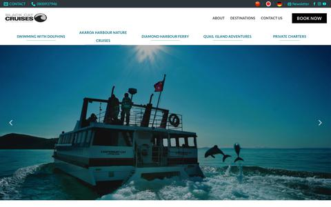 Screenshot of Home Page blackcat.co.nz - Black Cat your personal Dolphin Experience in NZ | Black Cat Cruises - captured Sept. 24, 2018
