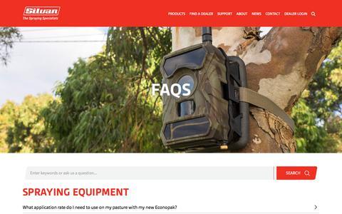 Screenshot of FAQ Page silvan.com.au - FAQS - Silvan - captured Oct. 26, 2017
