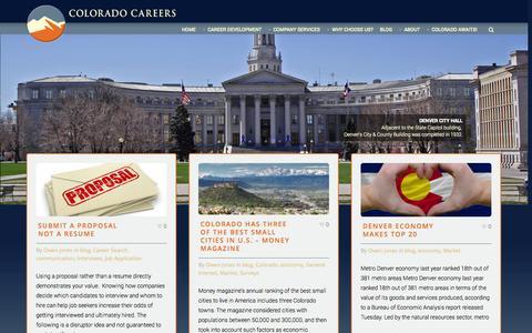Screenshot of Blog coloradocareers.com - Colorado Careers Blog » - captured Sept. 30, 2014