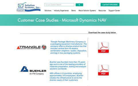 Screenshot of Case Studies Page solsyst.com - Case Studies | Solution Systems - captured Oct. 13, 2017