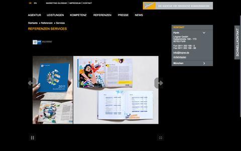 Screenshot of Services Page lingner.de - Dienstleistungsreferenzen - captured Jan. 30, 2016