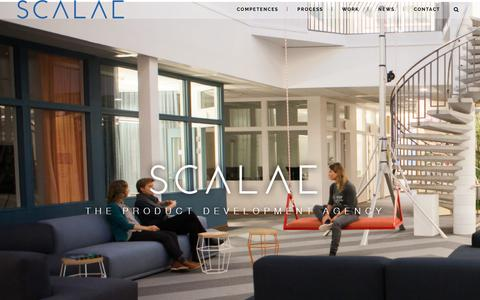 Screenshot of Home Page scalae.se - Scalae - Product Development - Part of the Altran Group | Produktutvecklingsbyrå - captured Oct. 5, 2017