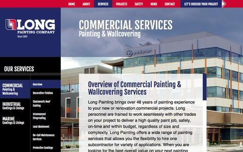 Screenshot of Services Page longpainting.com - Long Painting  Commercial Archives - Long Painting - captured Nov. 2, 2014