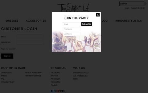 Screenshot of Login Page stylistla.com - Account – The Stylist LA - captured Oct. 7, 2014