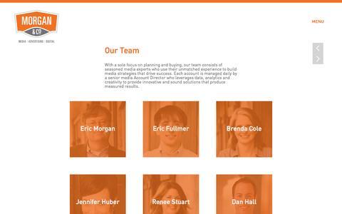 Screenshot of Team Page morganandco.com - Morgan & Co | Our Team - Morgan & Co - captured Feb. 14, 2016