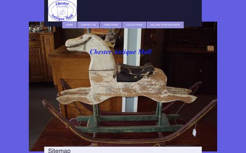 Screenshot of Site Map Page chesterantiquemall.com - Chester Antique Mall - Home - captured July 6, 2017