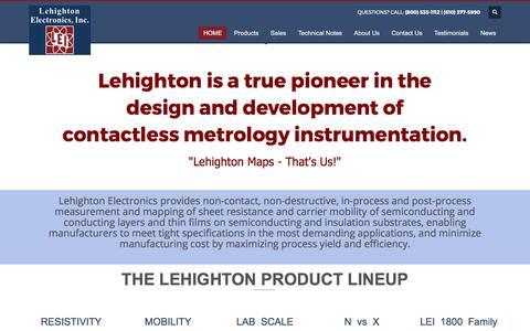 Screenshot of Home Page lehighton.com - Lehighton Electronics - captured July 31, 2017