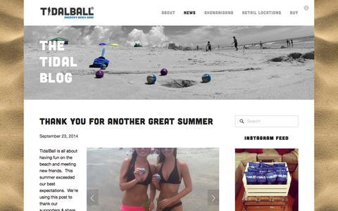 Screenshot of Press Page tidalball.com - The Tidal Blog — TidalBall - captured Sept. 30, 2014