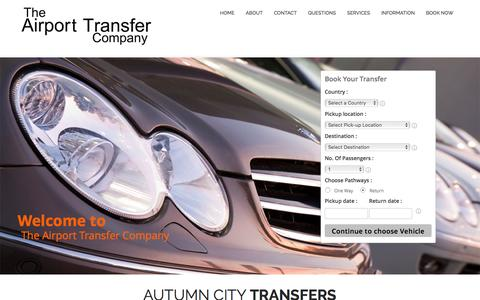 Screenshot of Home Page airport-transfer-company.com - The Airport Transfer Company - captured Feb. 17, 2016