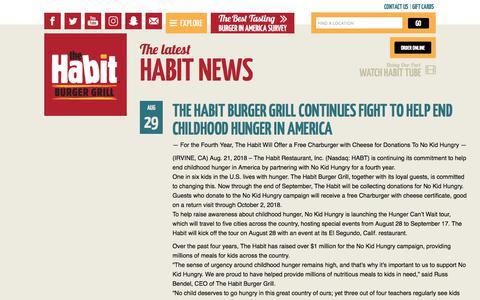 Screenshot of Press Page habitburger.com - The latest Habit News | Habit Burger - captured Sept. 24, 2018