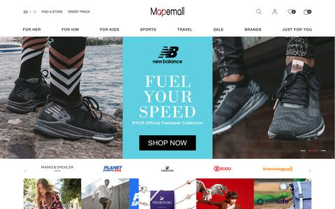 Screenshot of Home Page mapemall.com - Mapemall.com: Online shopping international lifestyle branded product - captured Nov. 1, 2018