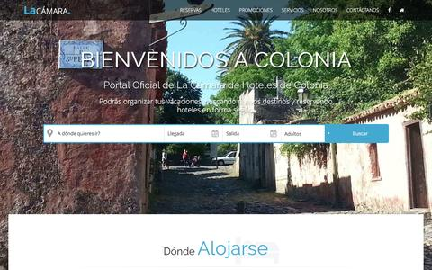 Screenshot of Home Page hotelesencolonia.com - Portal oficial de reservas de Colonia Uruguay. La Cámara de Hoteles de Colonia - captured June 4, 2016