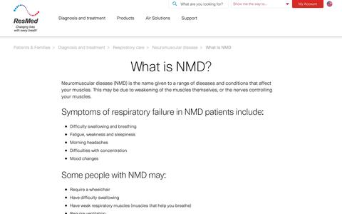 What is Neuromuscular disease (NMD) | ResMed
