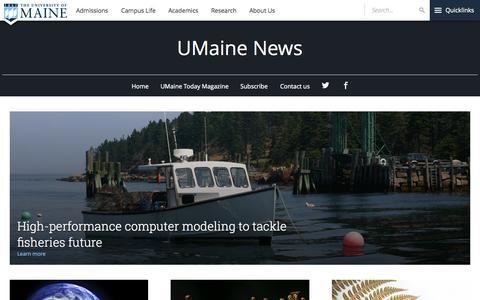 Screenshot of Press Page umaine.edu - UMaine News | University of Maine - captured Sept. 22, 2015