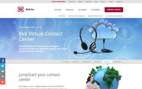 Screenshot of Services Page 8x8.com - Installation  | 8x8, Inc. - captured Nov. 5, 2014