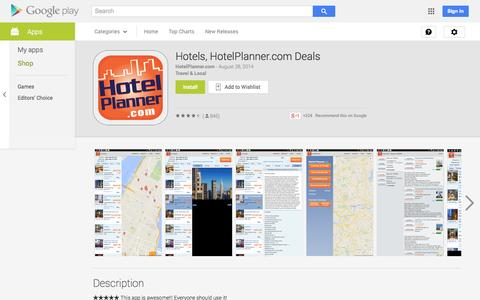 Screenshot of Android App Page google.com - Hotels, HotelPlanner.com Deals - Android Apps on Google Play - captured Oct. 22, 2014
