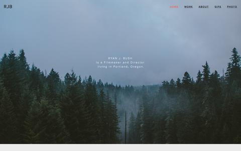 Screenshot of Home Page ryanjbush.com - RJB - captured Sept. 13, 2015