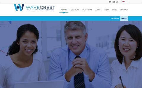 Screenshot of Jobs Page wavecrest.gi - WaveCrest |   CAREERS - captured Feb. 21, 2016